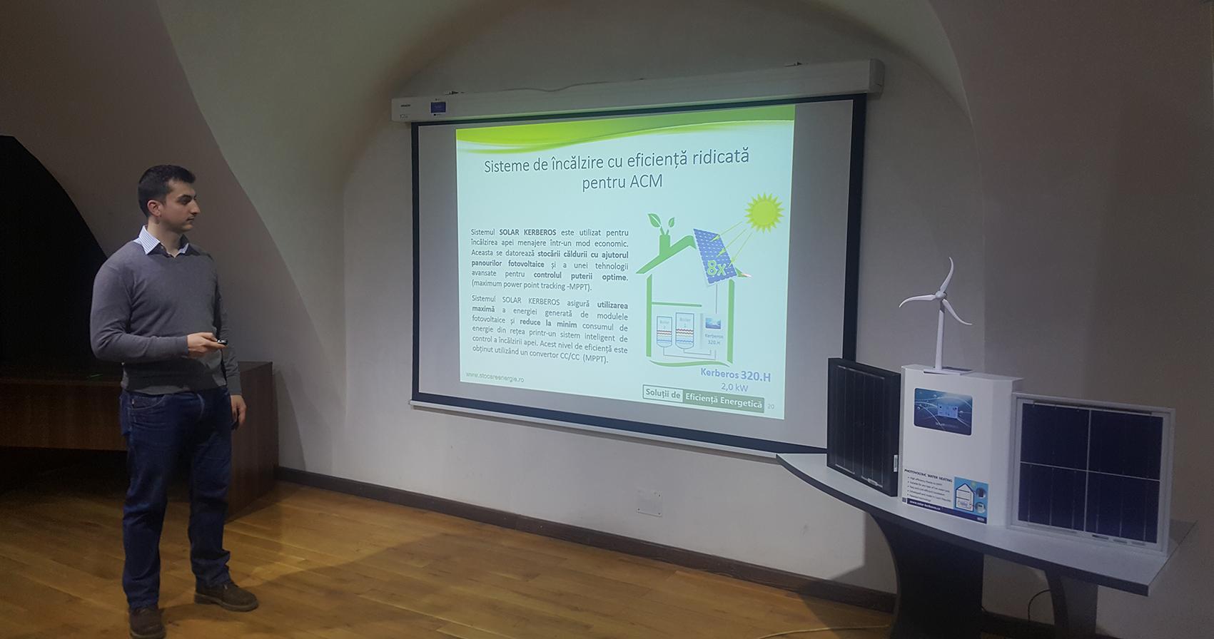 Sistem Kerberos - incalzire apa calda menajera cu energie din productie fotovoltaica